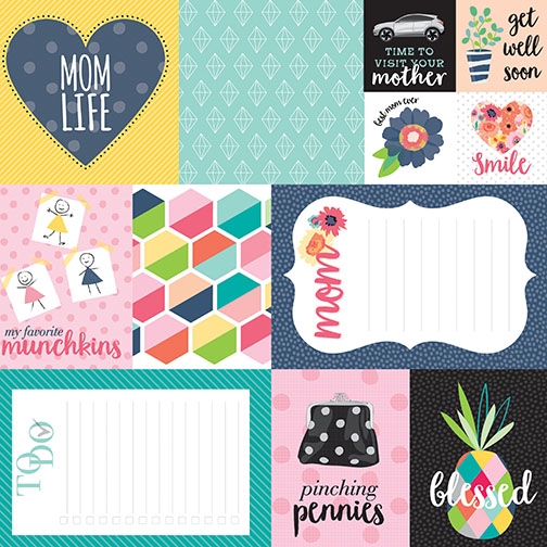 Mom Life Daily Details Cardstock