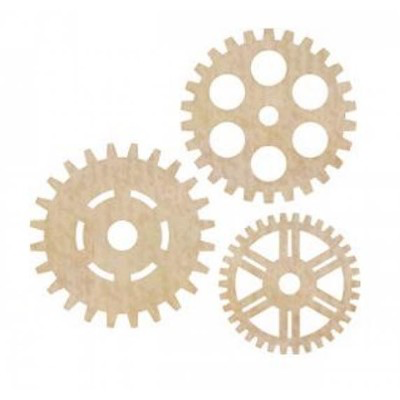 Cogs Wooden Flourishes
