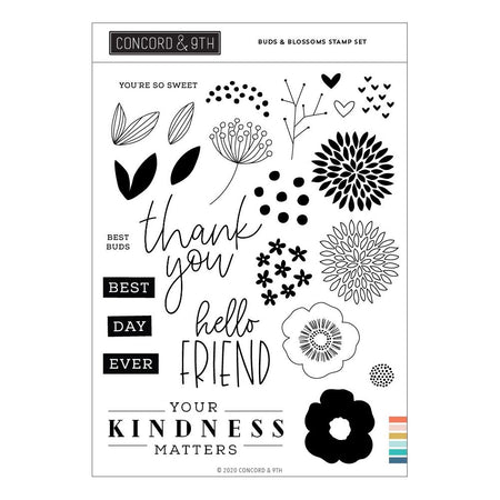 Concord & 9th - Buds & Blossoms Stamp Set