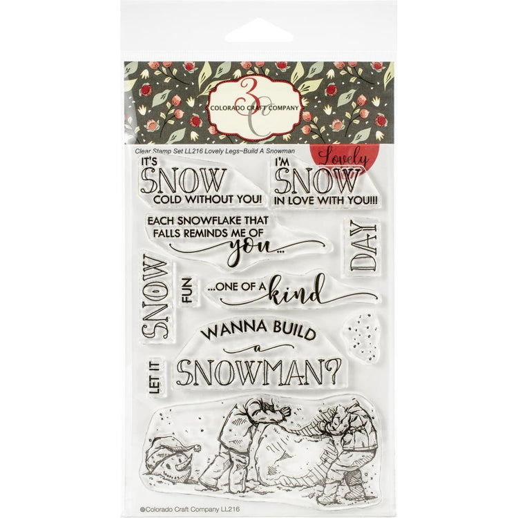 Colorado Craft Company - Lovely Legs - Build a Snowman