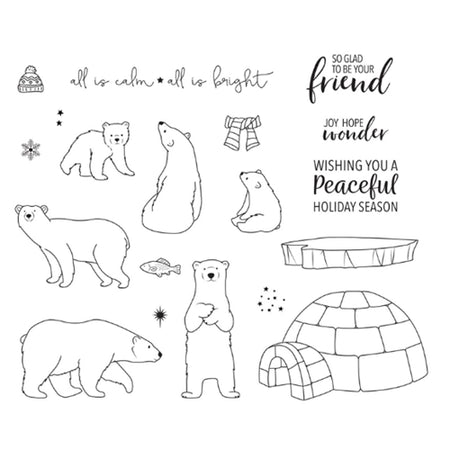 Fun Stampers Journey - Arctic Wonder Stamp & Die Combo