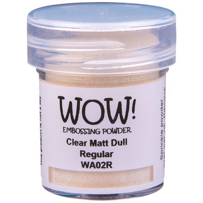 WOW! - Clear Matte Dull Embossing Powder