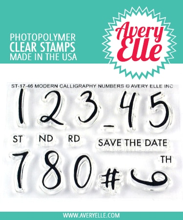 Modern Calligraphy Numbers Stamp Set