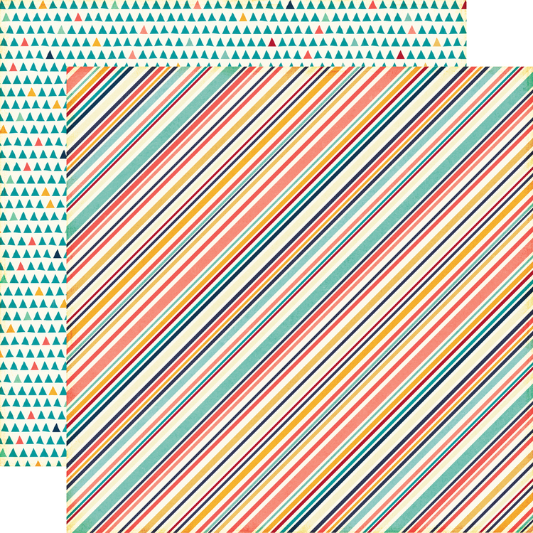 Multi Stripe Cardstock