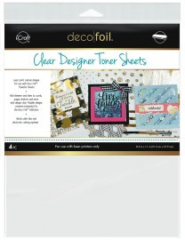 Deco Foil Clear Toner Sheets