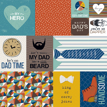 Bella BLVD - Dad Style Daily Details Cardstock