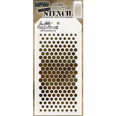 Stampers Anonymous - Tim Holtz Layered Stencil - Gradient Hex