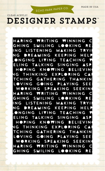 Words Background Stamp