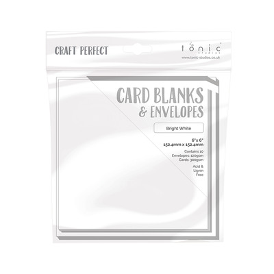 Card Blanks - 6x6 Card Blanks and Envelopes - Bright White