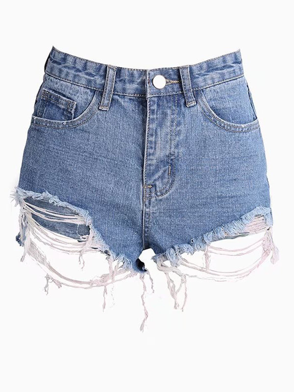 Denim Ripped Women's Shorts