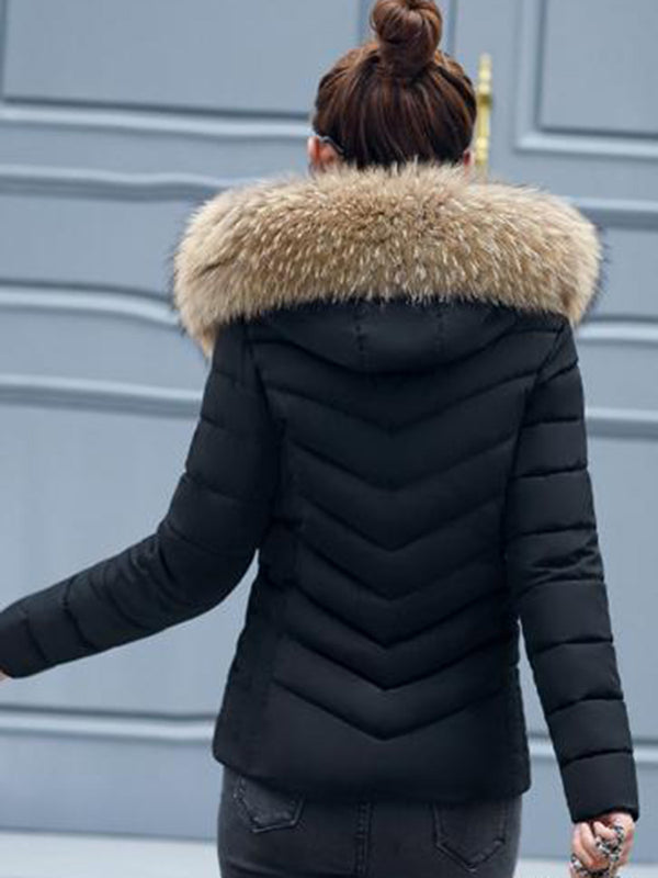 Plain Slim Puffer Coat
