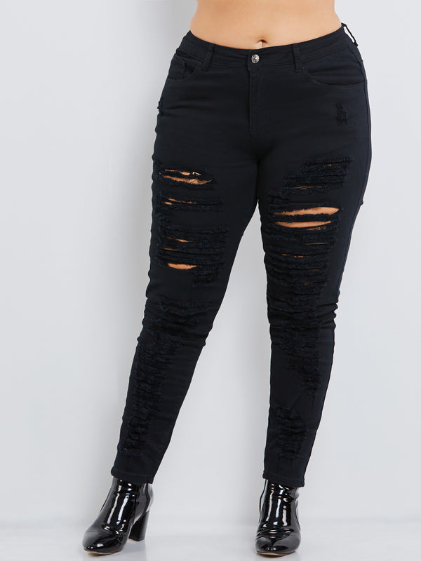 Denim Hole Skinny Women's Ripped Jeans