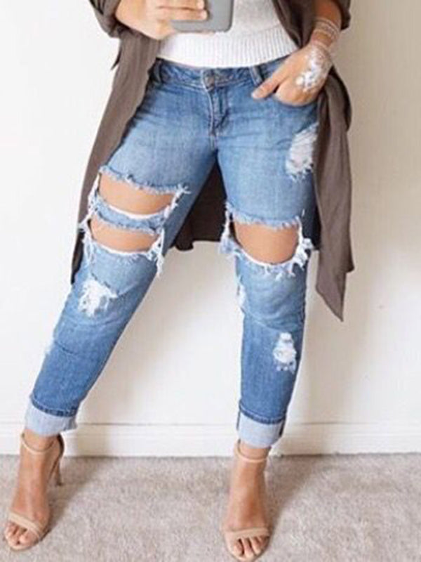 Denim Ripped Skinny Women's Jeans