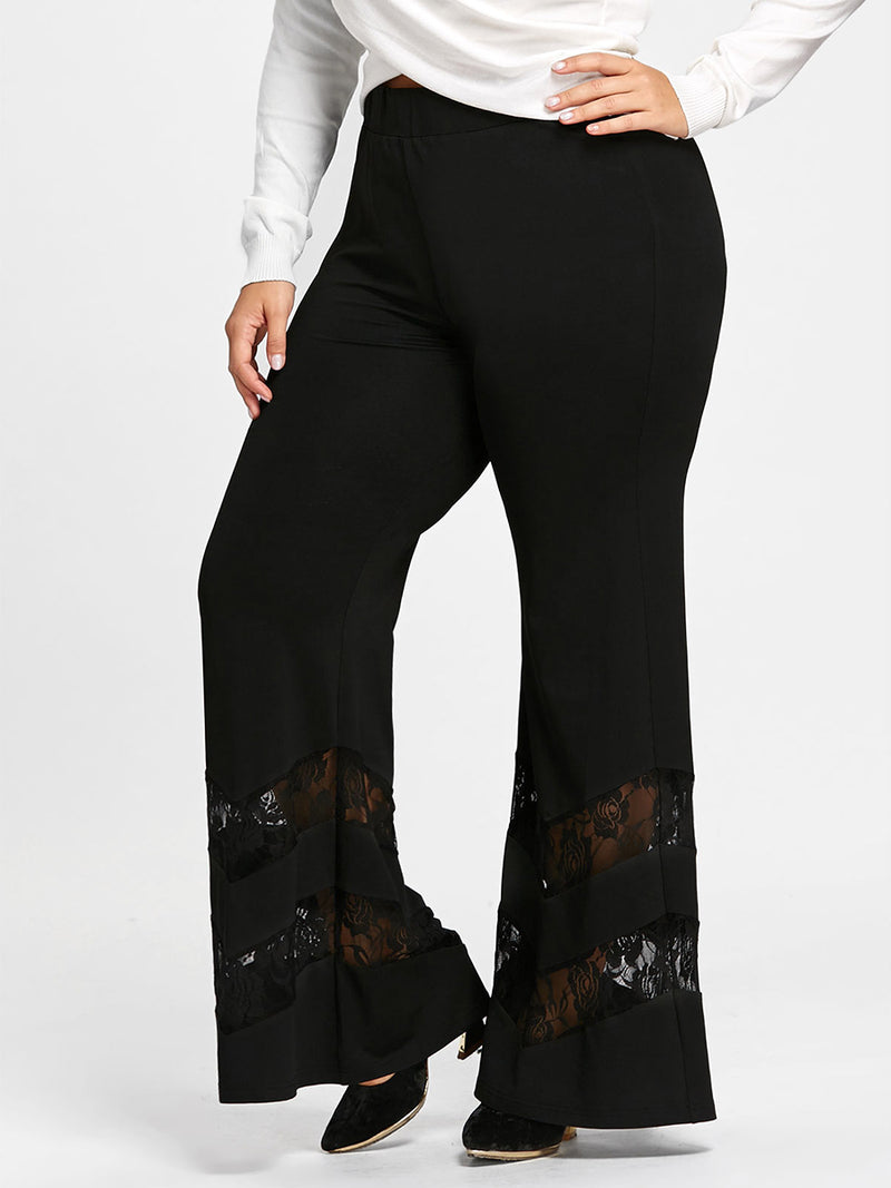 Lace Patchwork Women's Pants