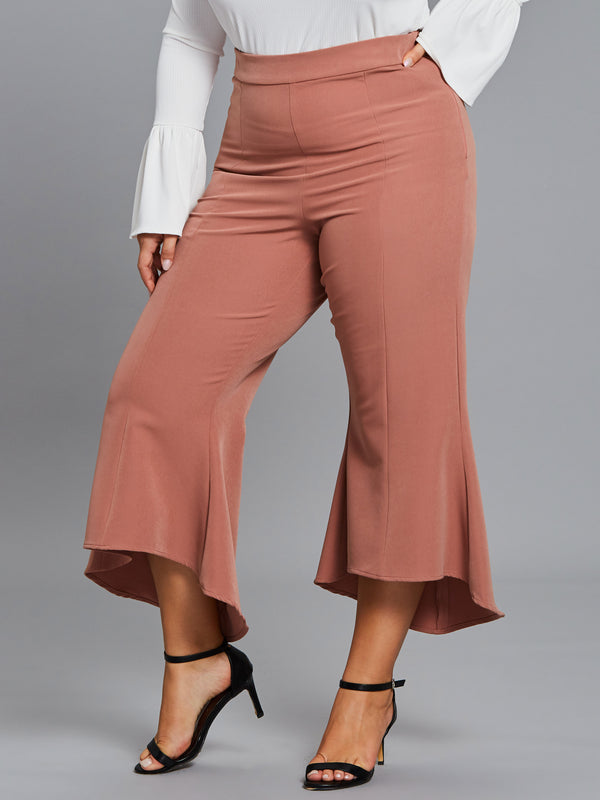 Croppde Slim Wide Leg Women's Pants