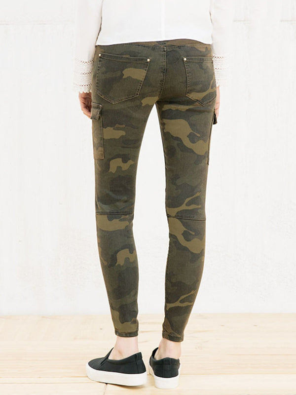 Camouflage Pocket Women's Jeans