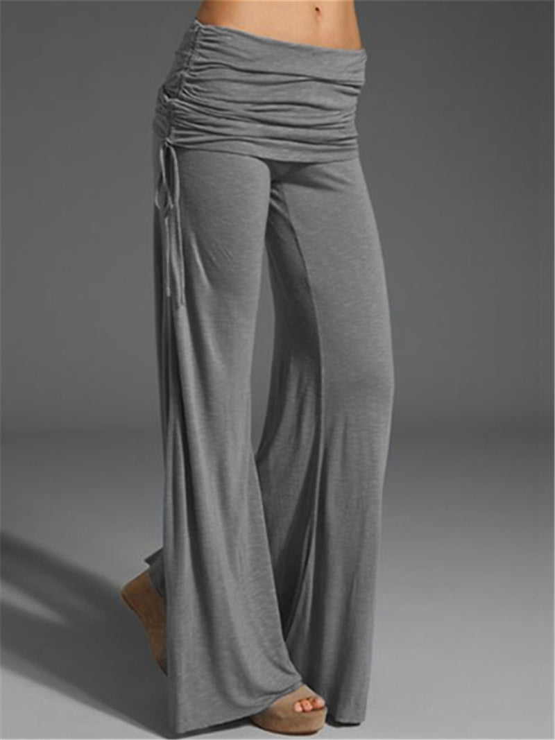 Loose Wide Legs Pleated Pants