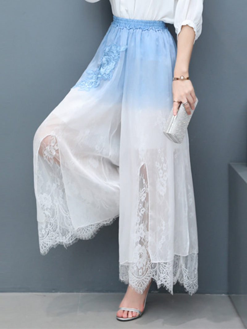 High-Waist Lace	Color Block Pants