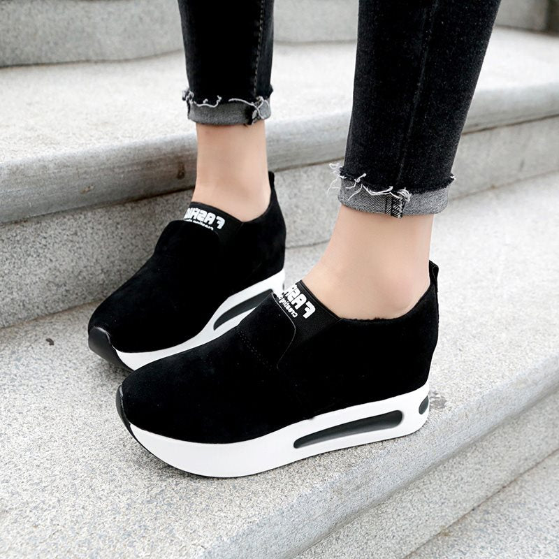 Round Toe Plain Low-Cut Women's Sneakers