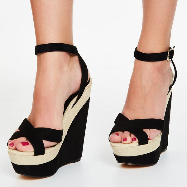 Sandales Awesome Contrast Colour PU Wedge