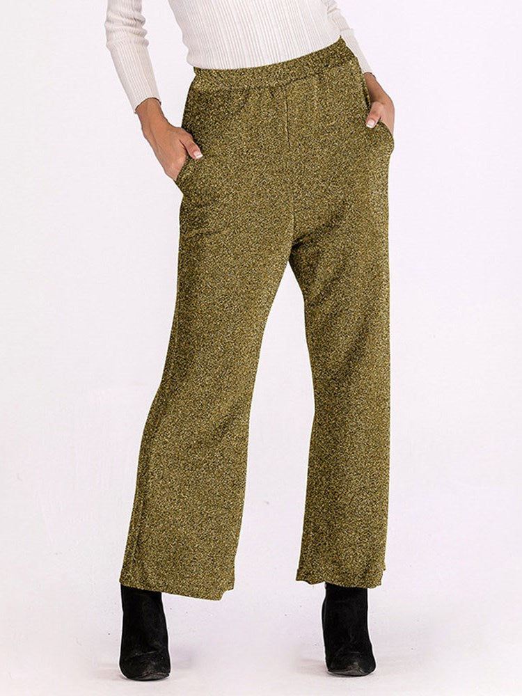 New Solid Color Women Casual Pants
