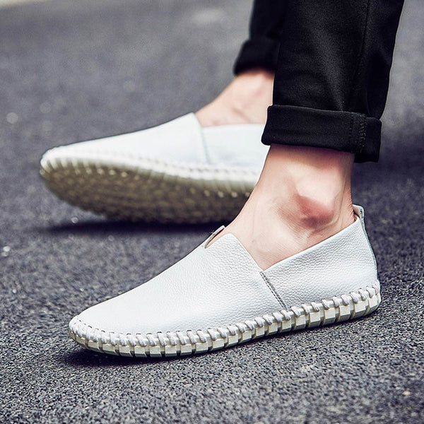 Chaussures Homme Low-Cut Upper Slip-On Pure Round PU