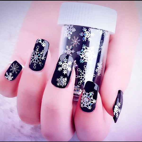 4*120cm Snowflake Star Nail Sticker 3D Nail Stickers Nail Decals Glitter Christmas Nail Art