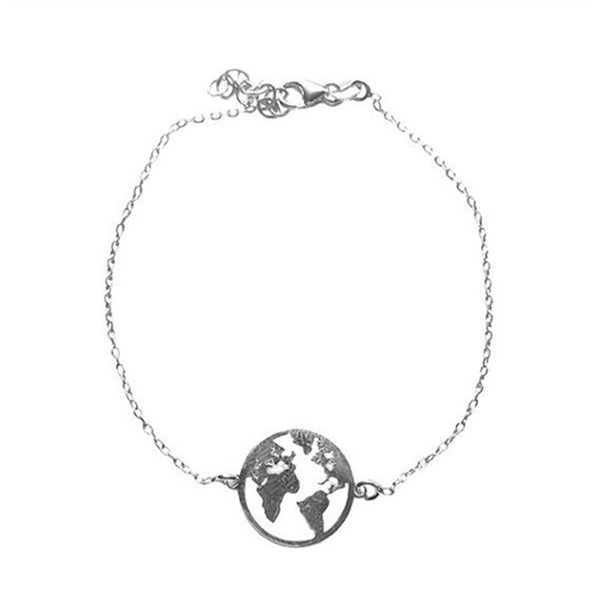 2 Colors World Map Bracelet For Women