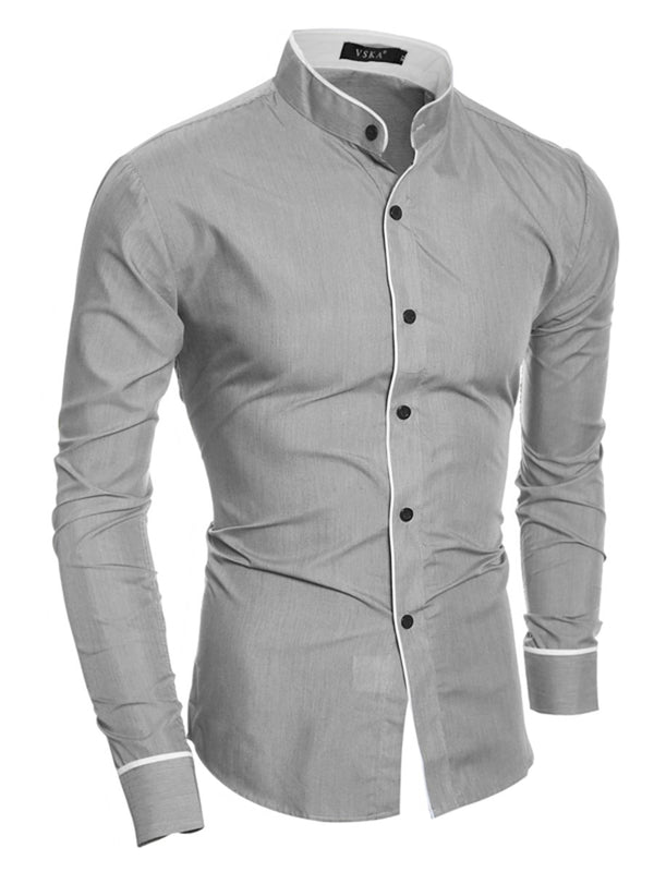 Chemise Homme Loisir Revers Pure Automne Slim
