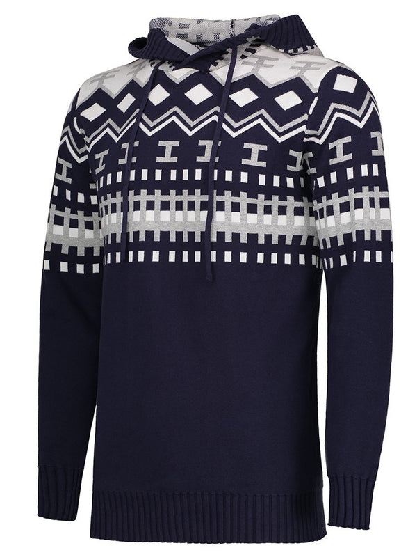Sweat-shirt Homme Pull-Over Imprimé Rayure Printemps Slim
