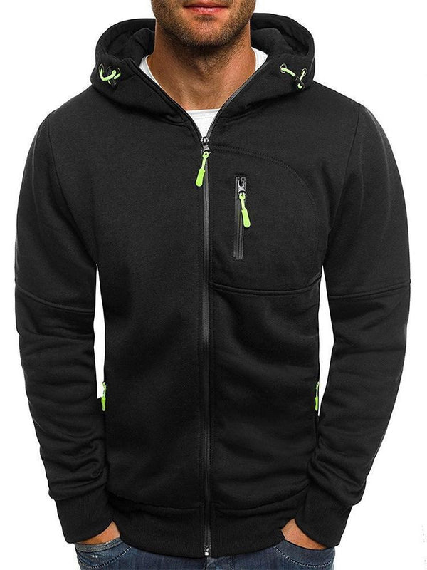 Sweat-shirt Homme Zip Cardigan Epais Lâcheté Zip