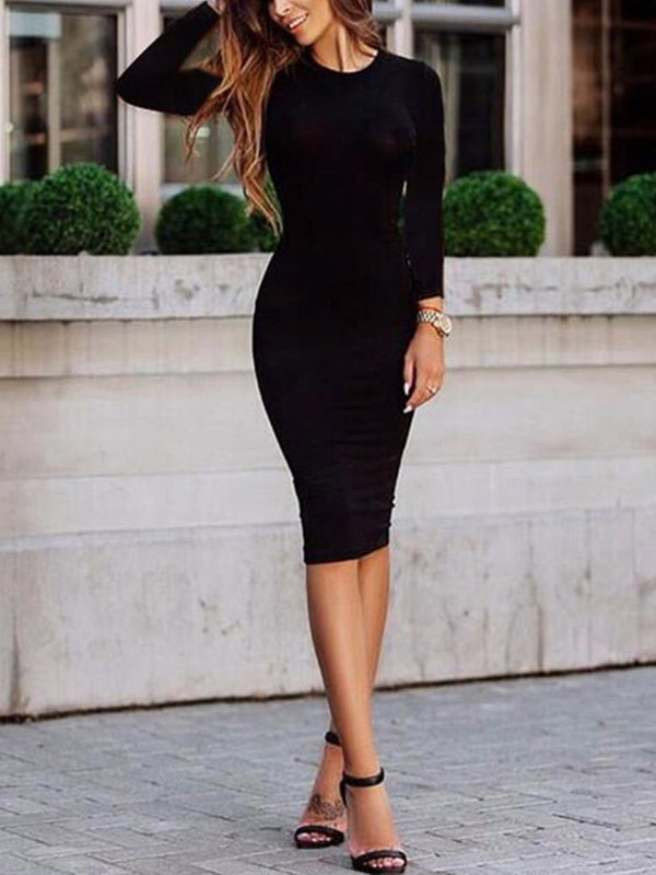 Robe Bodycon Mi-longue Sexy de Mode