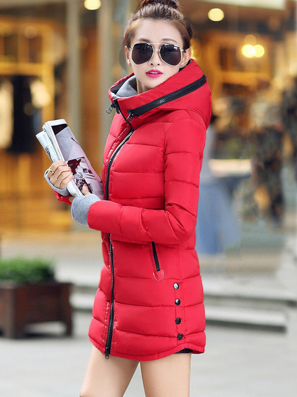 Women Contrast Color Leisure Coat