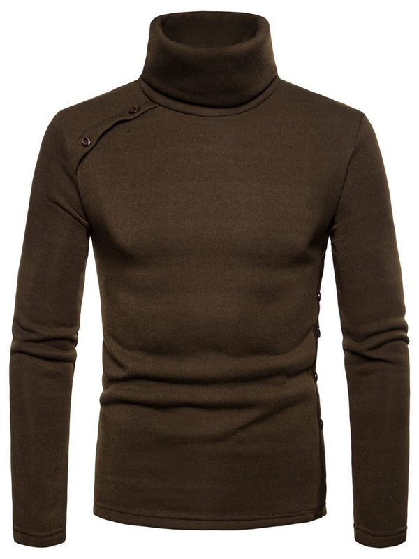 Sweat-shirt Homme Bouton Pull-Over Pure Pull Slim