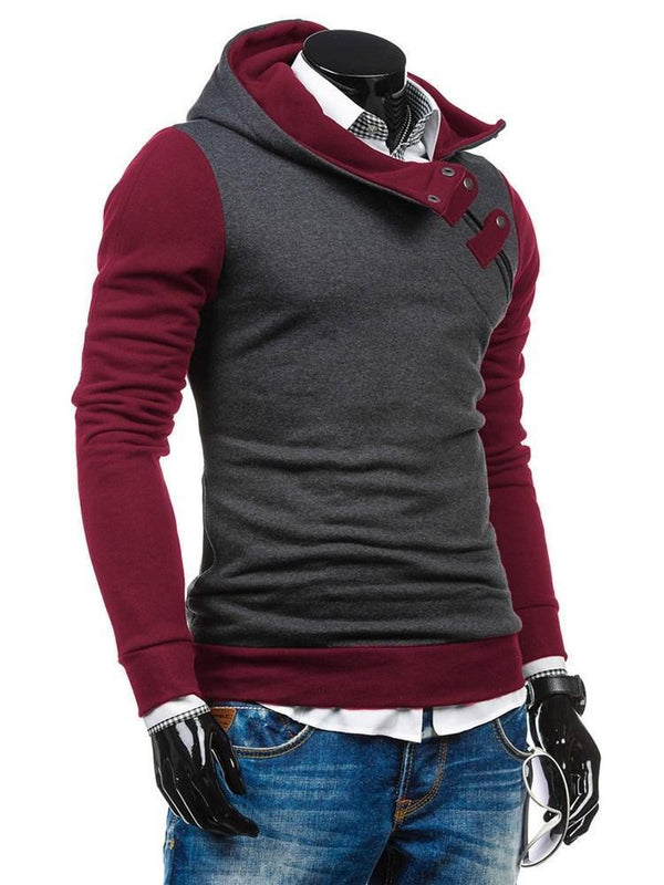 Sweat-shirt Homme Pull-Over Mélange De Couleurs Pull Slim
