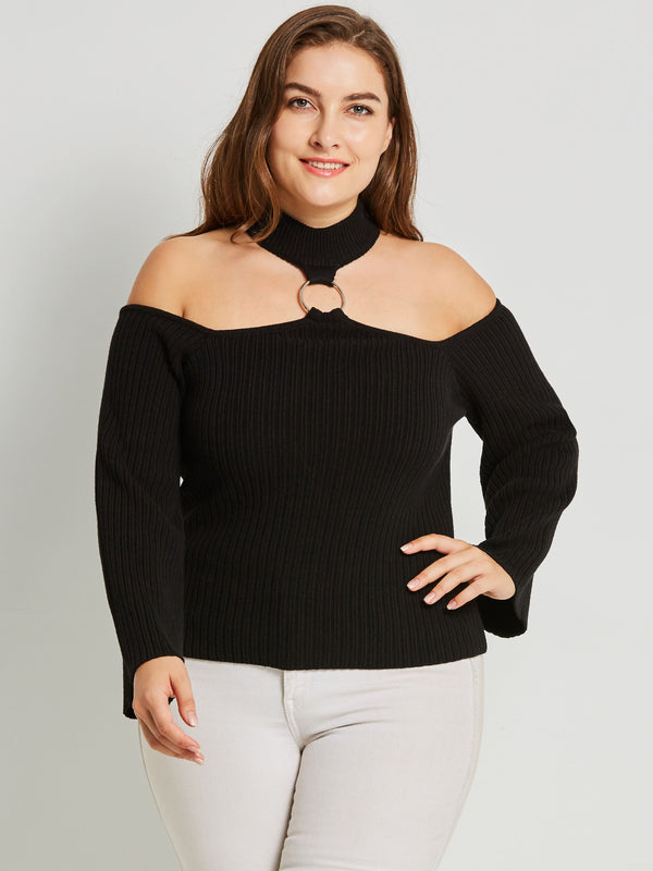 Pull Femme Evidement Manches Longues Standard