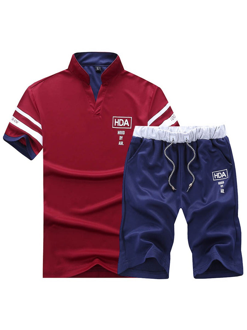 Explosive short-sleeved t-shirt shorts suit