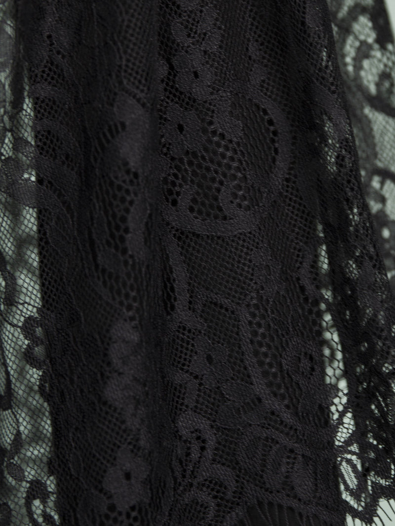 Halloween Lace Stitching Curve Hem Dress