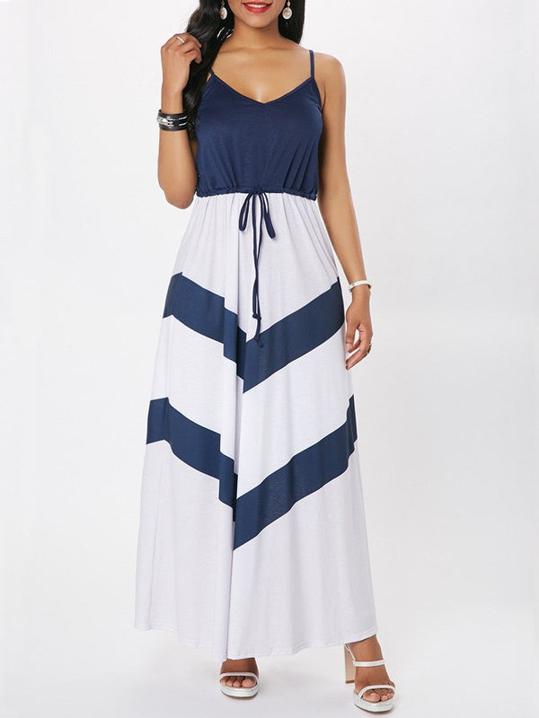 A-Line Stripe Women's Dress
