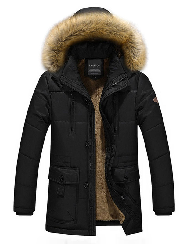 Manteau Homme Capuche Fourrure Artificiel
