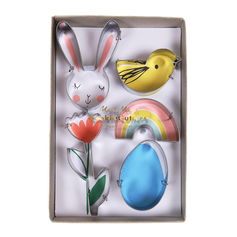 Bunny, Flower, Egg & Chick Cookie Cutters - Pack of 5