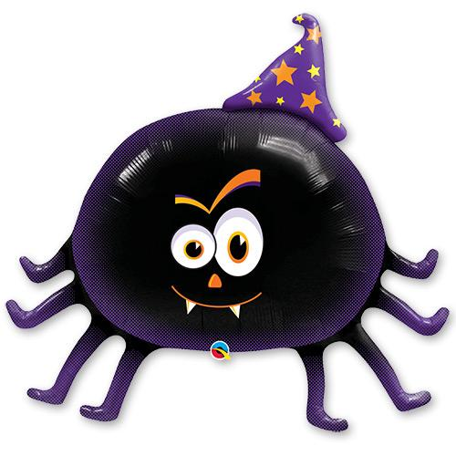 Friendly Halloween Party Spider Foil Balloon