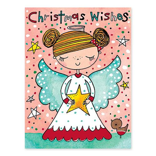 Christmas Wishes Angel Note Cards