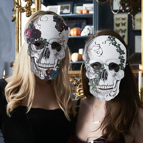 Baroque Skeleton Party Masks - Pack of 8