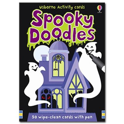 Spooky Doodles - Pack of 50 cards with pen.