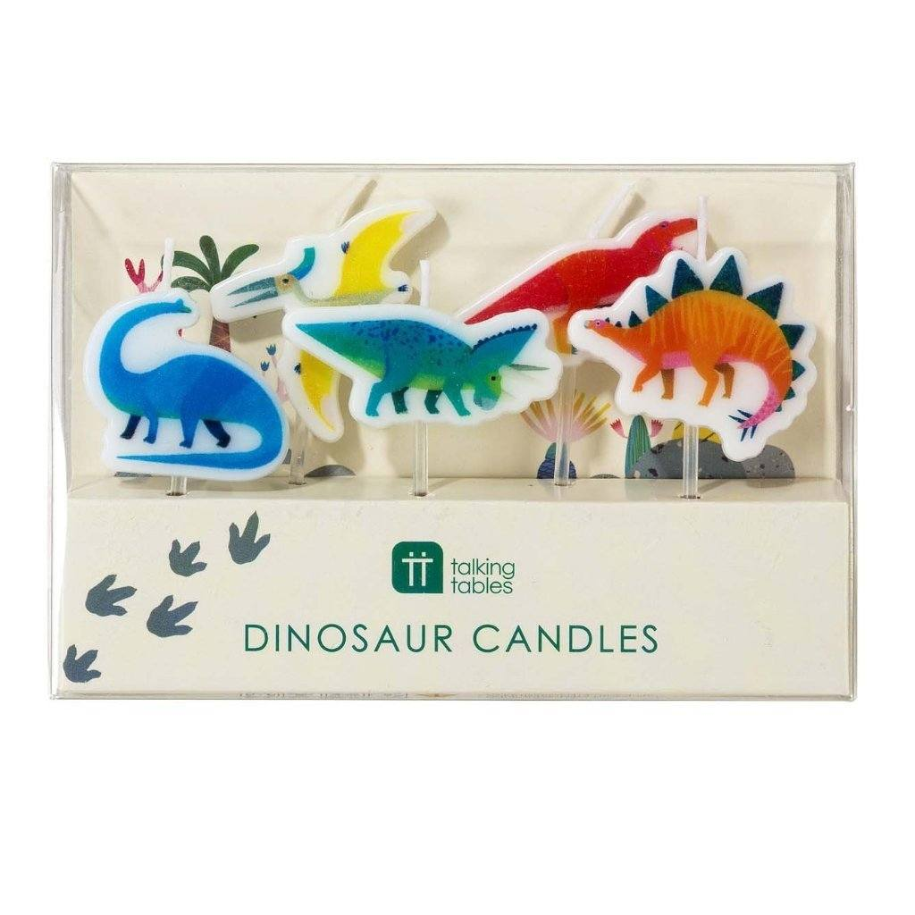 Party Dinosaur Candles - Pack of 5