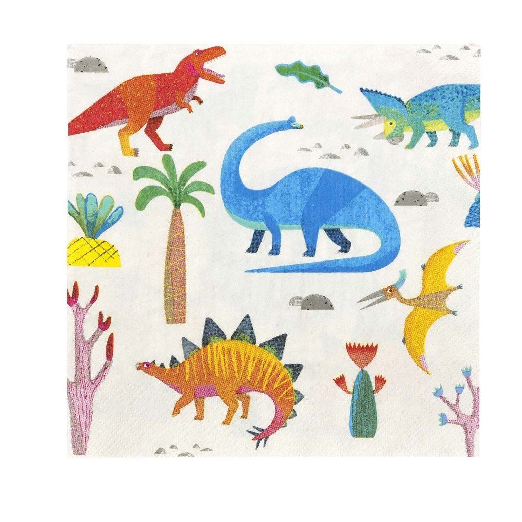 Party Dinosaur Napkin - pack of 20