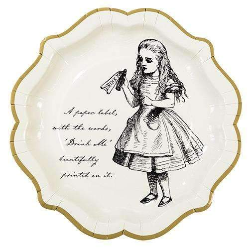 Alice in Wonderland Party Plates - Pack of 12