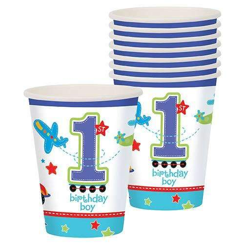 All Aboard 1st Birthday Boy Paper Cups