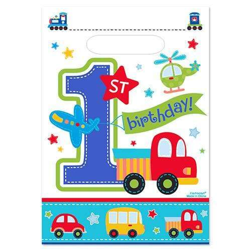 All Aboard 1st Birthday Boy Party Bags